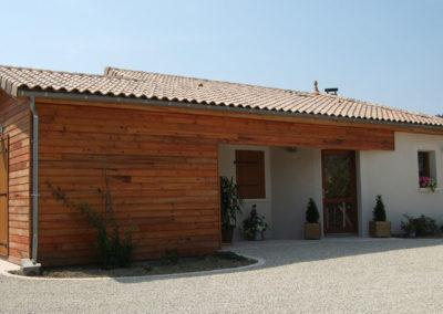 Maison mixte ossature bois et maçonnée