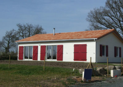 Maison écologique mixte bois et maçonnée